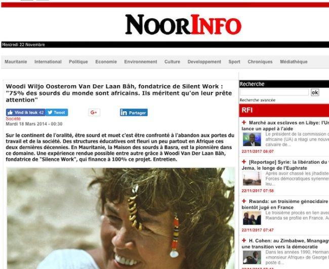 Noorinfo.com - interview - Mauritaanse Nieuws